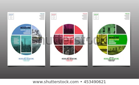 modern abstract circles brochure or cover page annual report tem Stock photo © SArts
