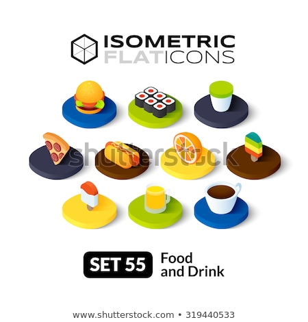 Coffee to Go isometric icon, isolated on color background Stock photo © sidmay