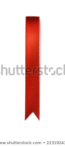 Open blank book with red ribbon bookmark Stock photo © orensila