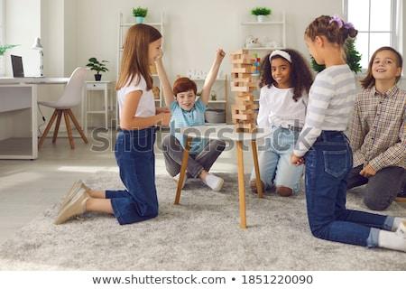 Gioco educativo blocchi ragazzi puzzle sviluppo Foto d'archivio © Olena