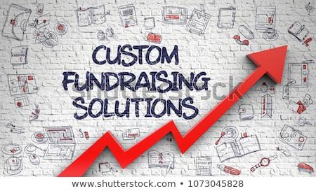 Recaudación de fondos soluciones pared de ladrillo 3D Foto stock © tashatuvango