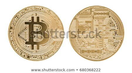Crypto Coins on White Background Stock photo © bluering
