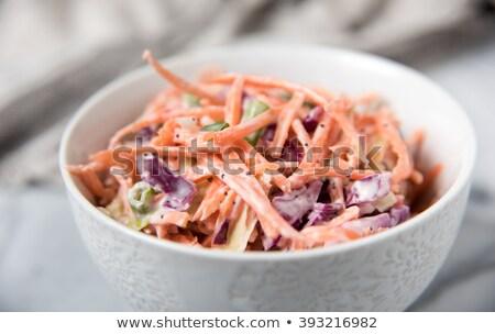 капустный салат Салат вилка морковь растительное Сток-фото © M-studio