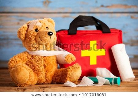 Pierwsza pomoc ramię szkoda ilustracja tle sztuki Zdjęcia stock © bluering
