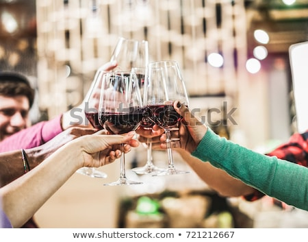 Young woman having glass of red wine Stock photo © ichiosea