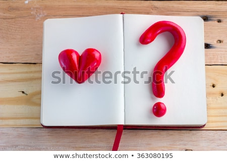 Stock photo: Love questions.