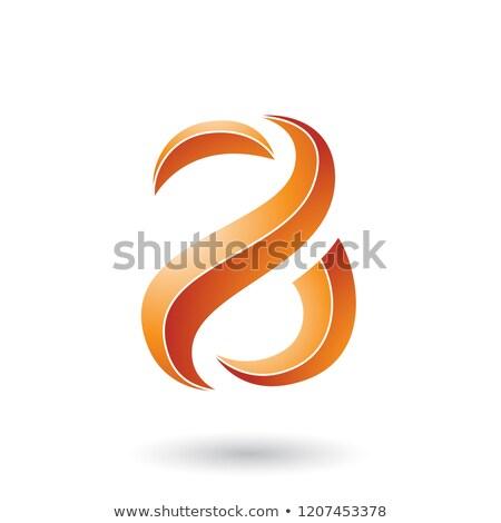Oranje gestreept slang brief vector Stockfoto © cidepix