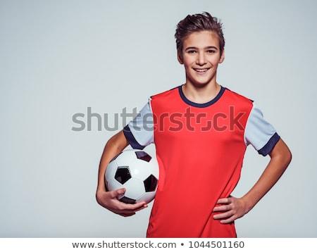 портрет · футбольным · мячом · футбола · мяча · мальчика - Сток-фото © monkey_business