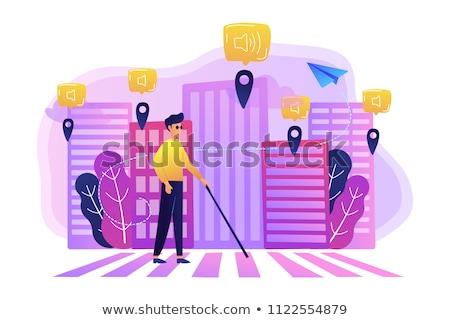 okos · város · technológia · kommunikáció · internet · számítógép - stock fotó © rastudio