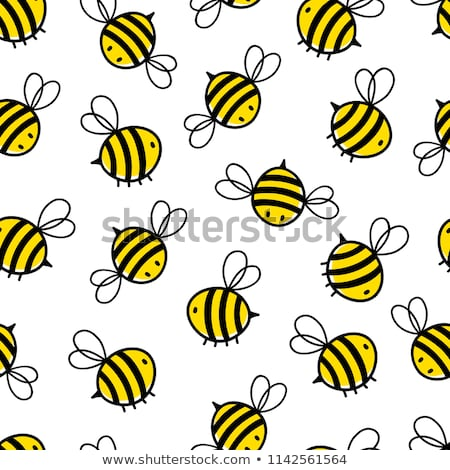 Seamless bumble bee pattern Stock photo © bluering