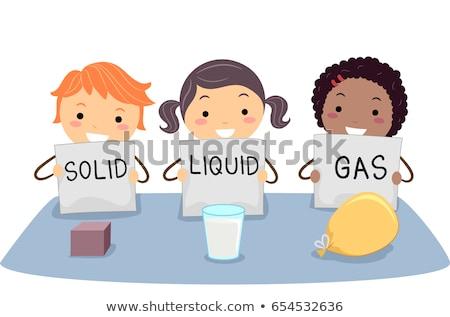 Enfants physique solide liquide gaz illustration Photo stock © lenm