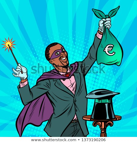 African Magician with euro money Stock photo © studiostoks