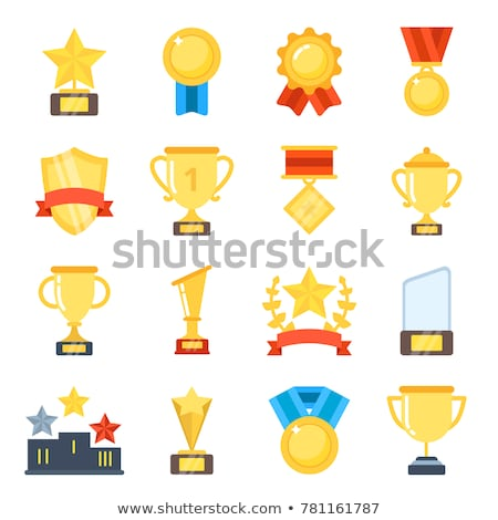 Winner or Champion Golden Prizes and Awards Set Stock photo © robuart