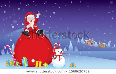веселый · Рождества · снеговик · снега · сцена - Сток-фото © ori-artiste
