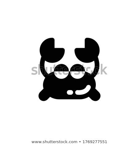 Verano cangrejo icono ilustración diseno diseno gráfico Foto stock © svvell