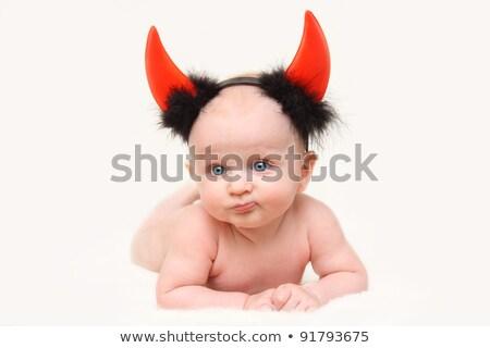 赤ちゃん 悪魔 ハロウィン 実例 パーティ 子 ストックフォト © adrenalina