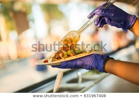 Jóvenes chefs alimentos camión comida mexicana Foto stock © Kzenon