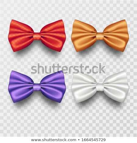 bow tie set vector realistic knot silk bow elegance formal suit bowtie fashion cloth classic sat stock photo © pikepicture