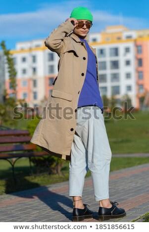 Retrato curioso empresario mano bolsillo mirando Foto stock © feedough