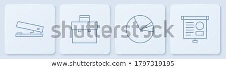 Ofis kâğıt turta diyagram grafik ayarlamak Stok fotoğraf © robuart