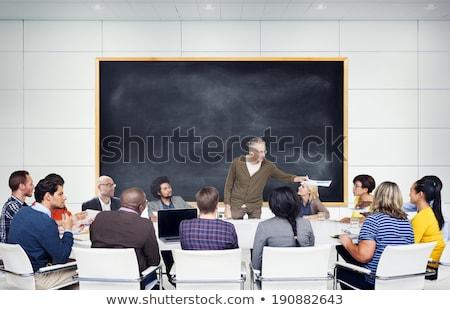 Gruppe Universität Tutor Präsentation Stock foto © snowing