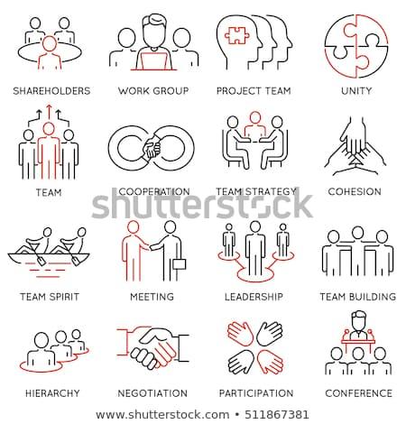 Squadra cooperazione icona corporate gestione squadra di affari Foto d'archivio © ussr