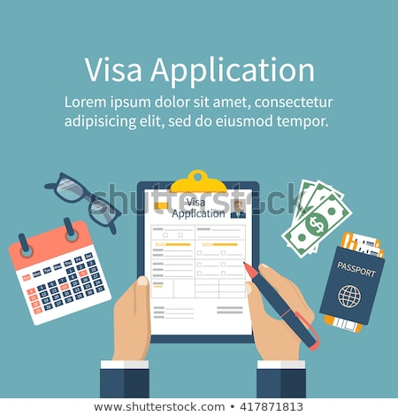 Homme remplissage visa demande forme Photo stock © AndreyPopov