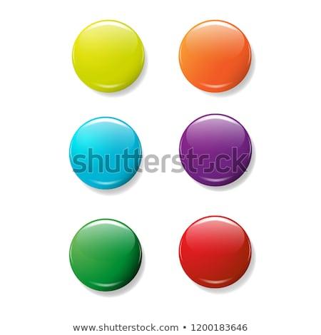 Round badges in six colors Stock photo © colematt