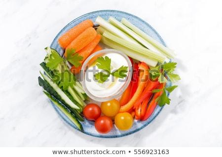 Friss zöldségek bot egészséges előételek felső kilátás Stock fotó © furmanphoto