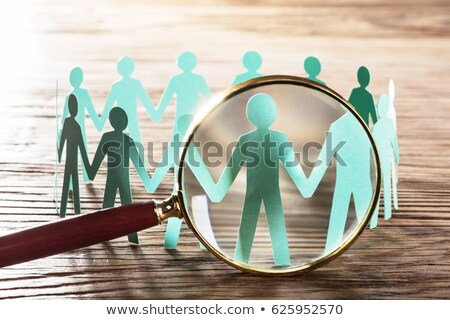 Human Figure Seen Through Magnifying Glass Stock photo © AndreyPopov