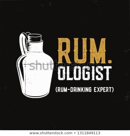 Diversão rum cartaz garrafa citar Foto stock © JeksonGraphics