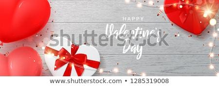 Valentin · nap · nap · vásár · szalag · vektor · boldog - stock fotó © frimufilms