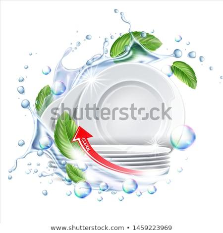 Clean Dishware Stack Stock photo © albund