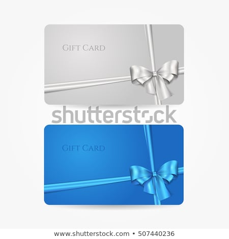 Stockfoto: Blue silver Gift Card Voucher Template