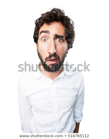 Man with worried face expression and many questions  Stock photo © ichiosea