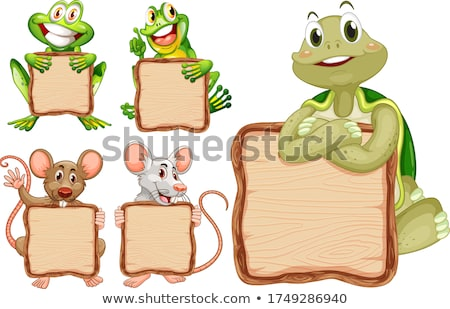 A turtle on note template Stock photo © bluering