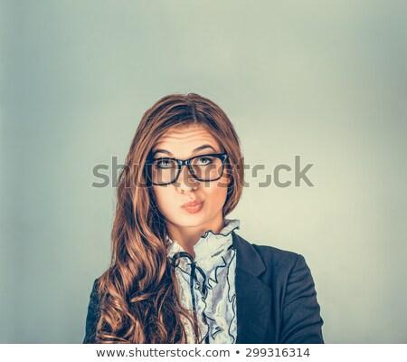 смешные скептический женщину комического Cartoon Поп-арт Сток-фото © rogistok