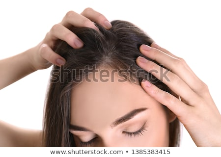 Dandruff In Woman's Hair Stock photo © AndreyPopov