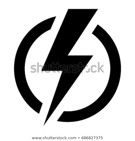 Energii elektrycznej moc ikona kolory eps Zdjęcia stock © netkov1