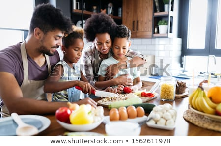 Stockfoto: Cooking Together