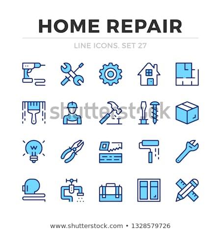 screwdriver and pliers repair icon Stock photo © romvo