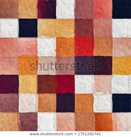 Streszczenie mozaiki projektu nowoczesne organiczny geometryczny Zdjęcia stock © ivaleksa