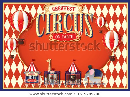 Cute circo illustrazione cielo design divertimento Foto d'archivio © bluering