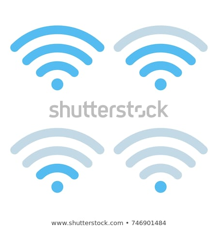 wi fi different signal levels wireless signal strength indicator icon sign for remote internet acc stok fotoğraf © kyryloff