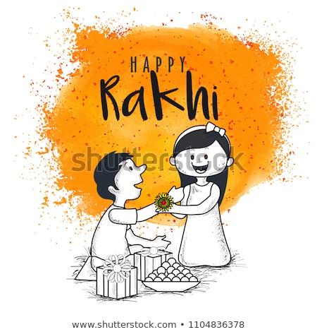 raksha bandhan brother and sister festival greeting Stock photo © SArts