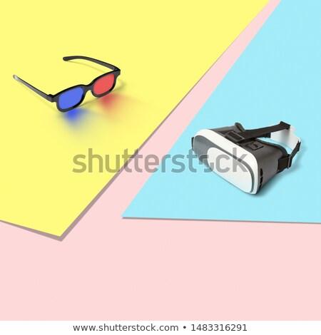 3D réalité verres tricolor pastel Photo stock © artjazz