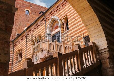 Courtyard of the Palazzo della Ragione in Verona. Italy Stock photo © boggy