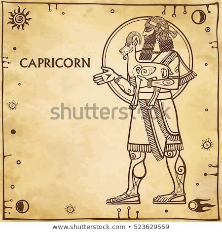 zodiaco · segno · frame · contorno · icona - foto d'archivio © cidepix