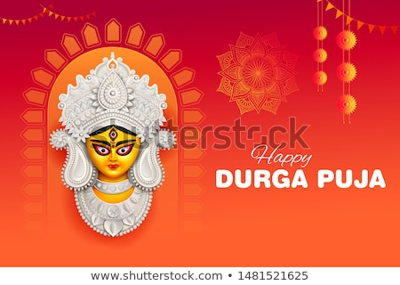 Godin gezicht gelukkig indian religieuze Stockfoto © vectomart