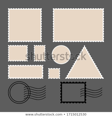 postage stamp set of postage stamp collection square circle stock photo © foxysgraphic